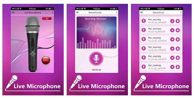 Best live microphone apps Android/iPhone