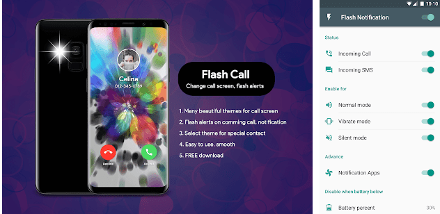 Best flash light notification alert apps android