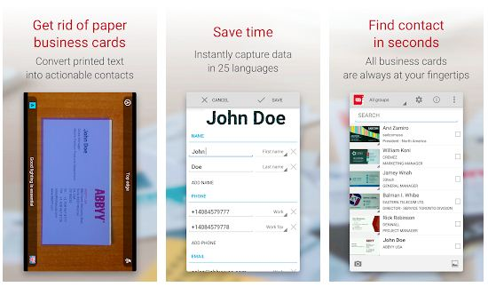 Best Business card scanner apps Android/ iPhone