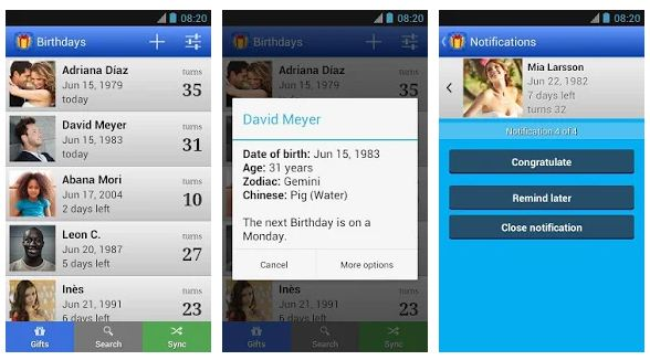 Best birthday reminder apps Android/ iPhone