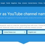 Top 10 Best YouTube Name Generator Tools Online 2019