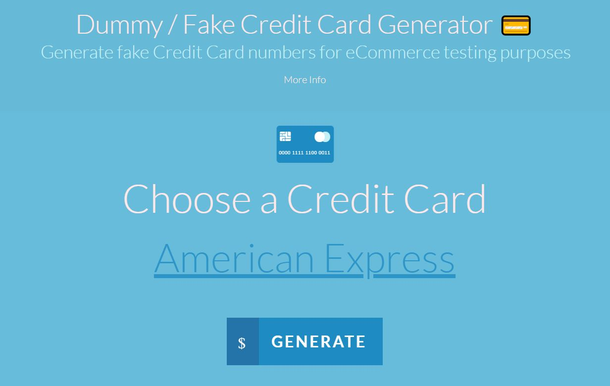 Best Fake Credit Card Generator Tools Online
