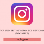 Top 2765+ Best Instagram Bios Idea's November 2020 (Boy's/Girl's)
