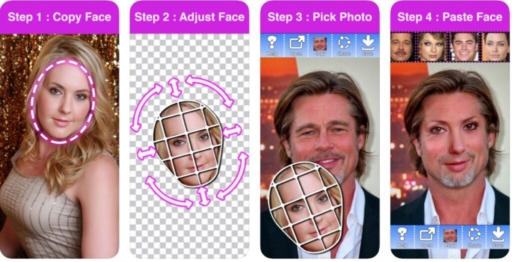 Best Face Cut&paste Apps Android/ iPhone