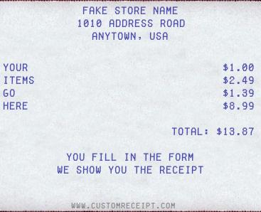 best fake receipt generator online 2020